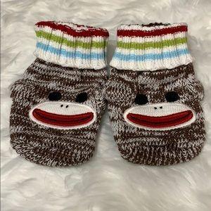 Crazy 8 Monkey Bootie Socks Baby 1